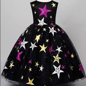 ⭐️New! Black Sparkly Stars Pageant Party Dress⭐️